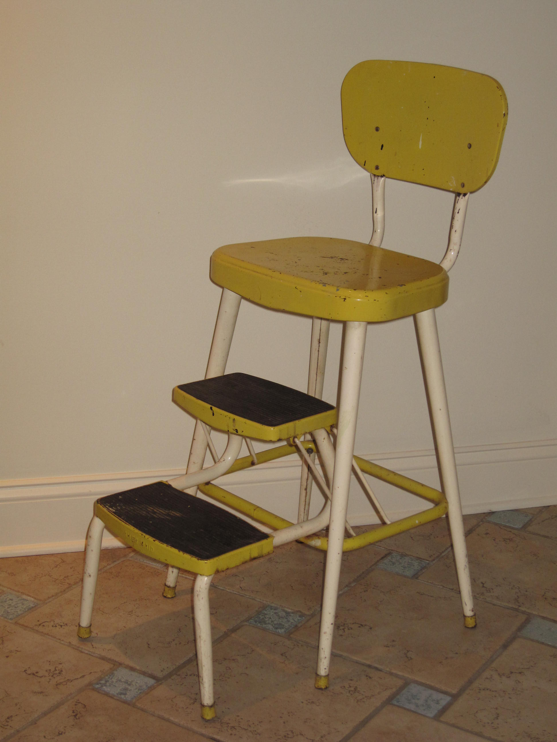 Antique metal high chair -