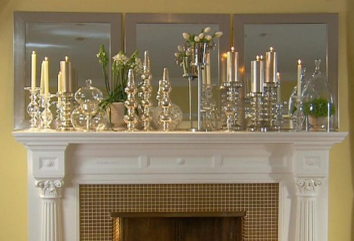 Deck the halls ideas for your fireplace mantel tamara for Mantel display ideas