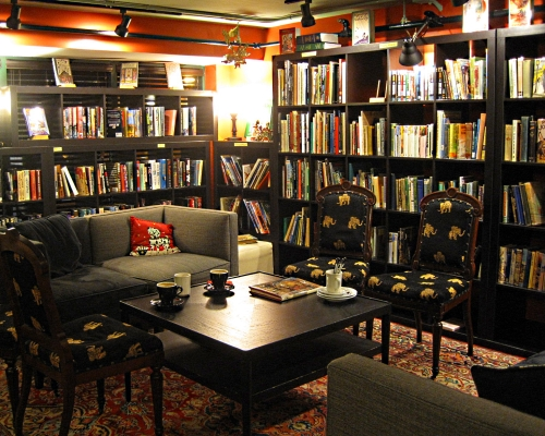 Battery Park Books lounge area
