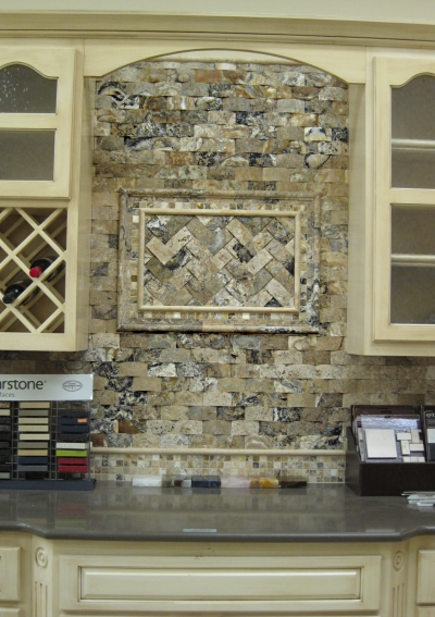 New surfaces trends in stone and tile tamara heather for Dimensional tile backsplash