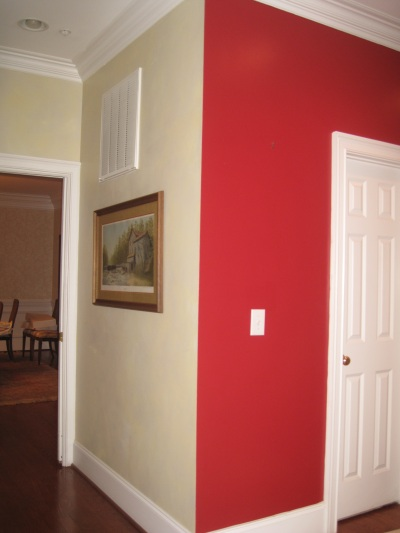There Are Many Things Wrong With This Picture But The Gest Is Red Paint Color That Stops On An Outside Corner Of Kitchen