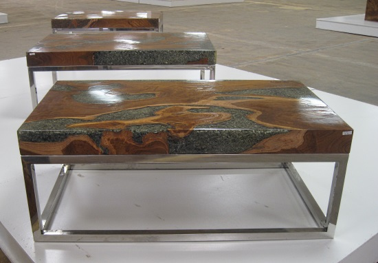 Petrified wood side table - Visiting The Phillips Collection Warehouse Tamara