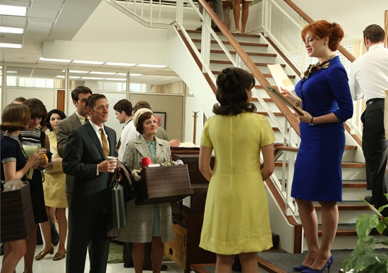 Mad Men Joan on the stairs