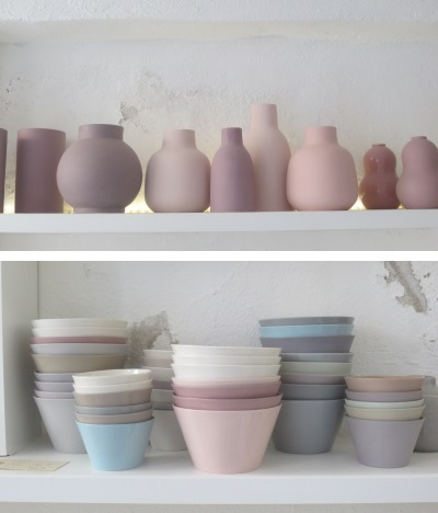Vases and bowls by Lena Pedersen