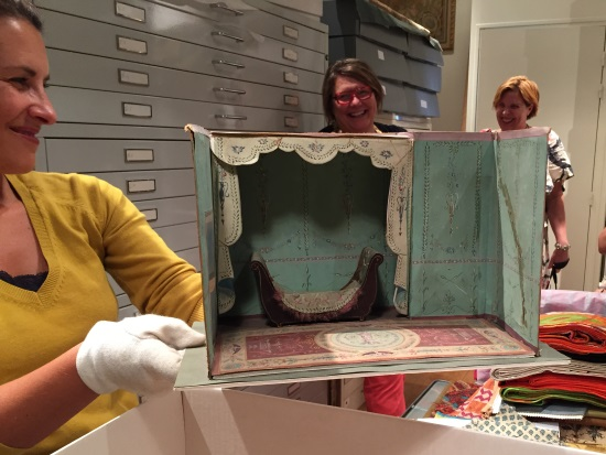This is the original design model for a train cabin for Napoleon Ist.