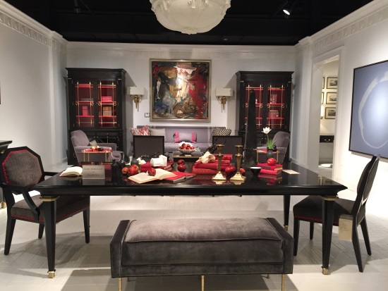black and red room
